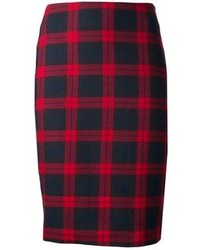 Harvey faircloth plaid pencil skirt medium 92121