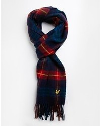 Lyle & Scott Plaid Scarf Navy