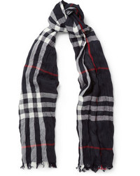 Burberry Shoes Accessories Check Merino Wool And Cashmere Lightweight Scarf