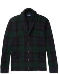 Polo Ralph Lauren Blackwatch Checked Shawl Collar Wool Cardigan