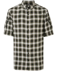 Neil Barrett Zip Sleeve Checked Shirt