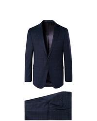 Hugo Boss Navy Novanben Checked Super 130s Virgin Wool Suit