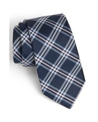 Navy Plaid Tie
