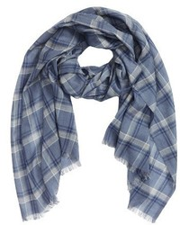 Plaid wool blend scarf medium 1195407