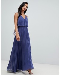ASOS DESIGN Pleated Crop Top Maxi Dress