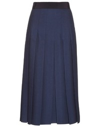 Gucci Pleated Silk And Wool Blend Midi Skirt