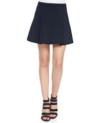 Navy Pleated Mini Skirt