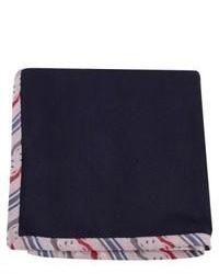 Coeur Oxford Silk Pocket Square Navy