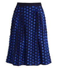 J.Crew Gracewood A Line Skirt Baroque Blue