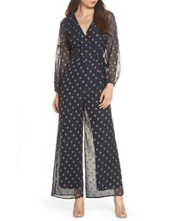 Navy Polka Dot Jumpsuit