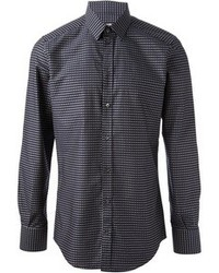 Navy Polka Dot Long Sleeve Shirt