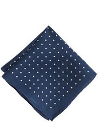 Boys silk pocket square in polka dot medium 255898