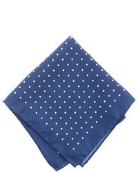 J.Crew Italian Silk Pocket Square In Classic Dot