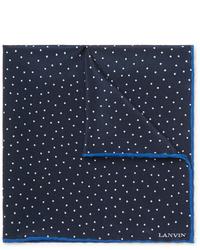 Lanvin Polka Dot Silk Pocket Square