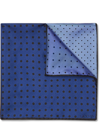 Lanvin Polka Dot Silk Twill Pocket Square