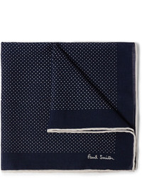Paul Smith Shoes Accessories Polka Dot Wool And Silk Blend Pocket Square