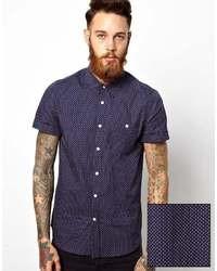 Navy Polka Dot Short Sleeve Shirt