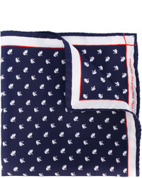 Fef swan print pocket square medium 3762392