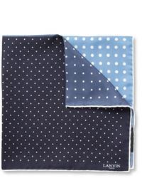Lanvin Polka Dot Print Silk Pocket Square
