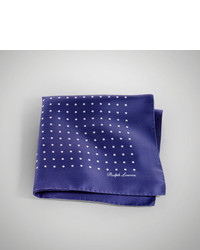 Ralph Lauren Purple Label Polka Dot Silk Pocket Square