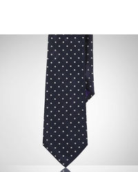 Navy Polka Dot Silk Tie