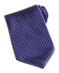 Stefano Ricci Mini Flower Silk Tie Navy