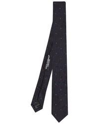 Dolce & Gabbana Polka Dot Jacquard Skinny Silk Tie
