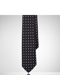 Ralph Lauren Purple Label Polka Dot Silk Foulard Tie