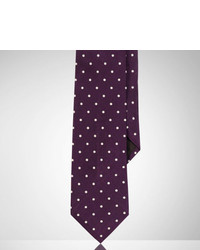 Ralph Lauren Purple Label Polka Dot Silk Satin Tie