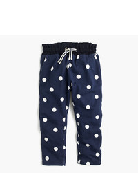J.Crew Girls Polka Dot Lined Sweatpant