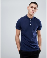 Tommy Jeans Pique Polo Shirt In Navy