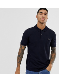 Fred Perry Plain Polo Shirt In Navy At Asos