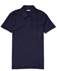 Sunspel Riviera Slim Fit Cotton Mesh Polo Shirt