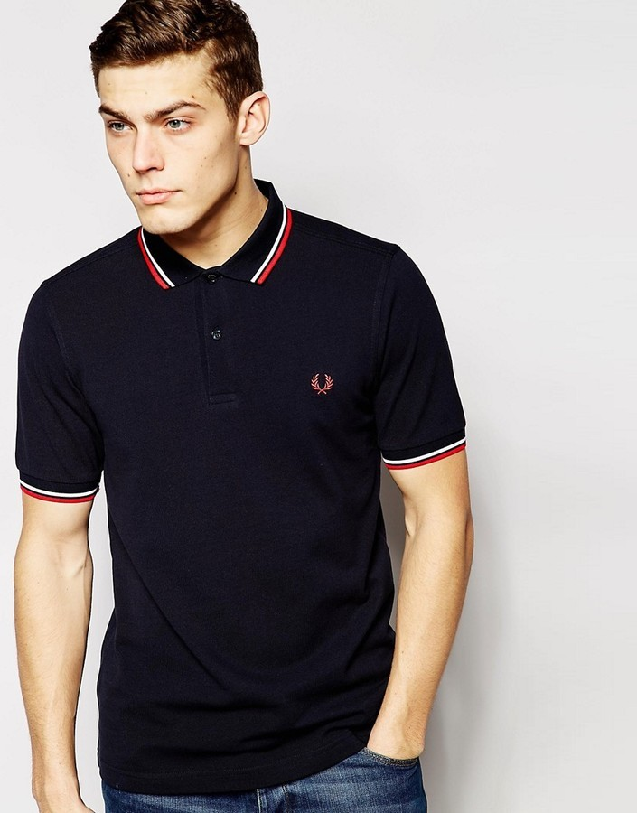 Fred Perry Slim Fit Twin Tipped Polo Shirt,