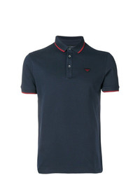 Emporio Armani Stripe Trimmed Polo Shirt