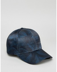 Asos Baseball Cap In Palm Print