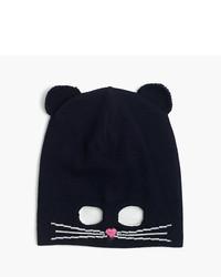 J.Crew Girls Kitty Mask Beanie Hat