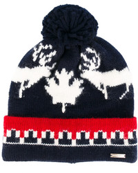 Intarsia pompom beanie hat medium 4155182