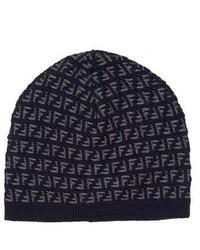 Fendi Intarsia Wool Knit Beanie
