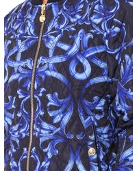 Versace Baroque Print Quilted Bomber Jacket Where To Buy How To Wear