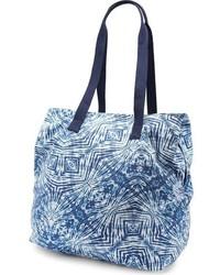 Navy Print Canvas Tote Bag