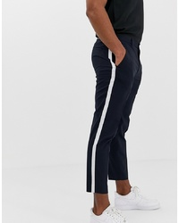 Burton Menswear Smart Trousers With In Navy