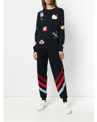 Chinti & Parker Cashmere Hello Kitty Patch Sweater