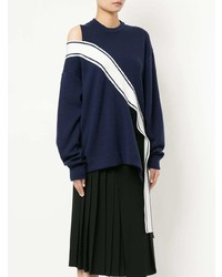 Monse Contrast Trim Cutout Sweater
