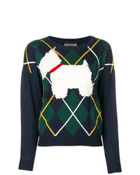 Boutique Moschino Dog Knit Sweater