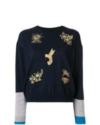 Stella McCartney Embroidered Colour Block Sweater