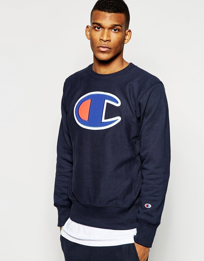 Champion Sweatshirt With Large Logo | Where to buy & how to wear