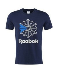 Men s Navy Print Crew-neck T-shirts by Reebok   Men s Fashion ff78cd31d42b