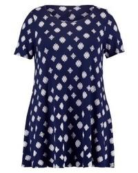 Heraldic swing print t shirt navy medium 3896067