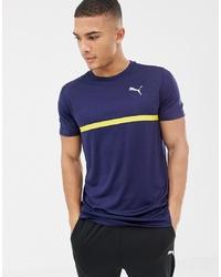 Puma Running Graphic T Shirt In Navy 516944 07